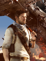 Uncharted 3 flaming and AK